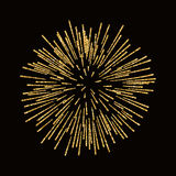 Firework gold isolated Royalty Free Stock Photos