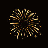 Firework gold isolated Stock Photo