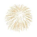 Firework gold isolated Stock Photos