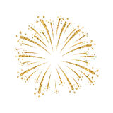 Firework gold isolated Royalty Free Stock Images