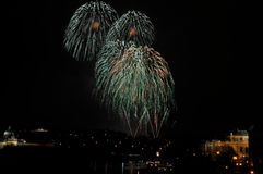 Firework. Great New Year Firework in Prag 2014 Royalty Free Stock Photography