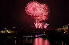 Firework. Great New Year Firework in Prag 2014 Stock Image
