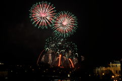 Firework. Great New Year Firework in Prag 2014 Royalty Free Stock Image
