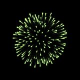 Firework green sparkle  background. Beautiful night fire, explosion decoration, holiday, Christmas, New Year. Birthday. Symbol festival, American 4th july Royalty Free Stock Images