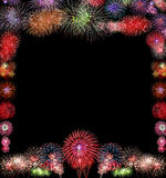 Firework Group black background Stock Photography