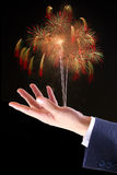 Firework on hand Stock Photo