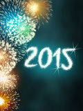 Firework 2015 happy new year Royalty Free Stock Images
