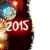 Firework 2015 happy new year Royalty Free Stock Photos