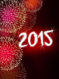 Firework 2015 happy new year Stock Photography