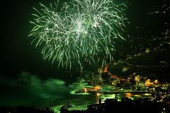 Firework HDR. Fireworks in recco during 8 september celebration Stock Image
