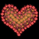 Firework Heart Royalty Free Stock Photos