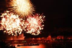 Firework in Heidelberg Stock Photo