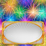 Firework, holiday background Stock Images