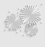 Firework for Holiday Celebration Events, Flat Style Long Shadow Stock Photo