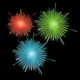 Firework in honor of Independence Day. Vector Illu. Firework in honor of Independence Day for you. Vector Illustration Royalty Free Stock Photography