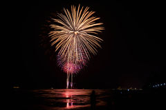 Firework on Hua Hin beach Stock Photography