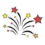 Firework icon cartoon Royalty Free Stock Photos