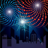 Firework icon design. Firework design over dark background, vector illustration 10 eps graphic Royalty Free Stock Images