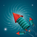 Firework icon design Stock Images