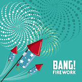 Firework icon design. Firework design  with rocket  icon design, vector illustration 10 eps graphic Stock Image