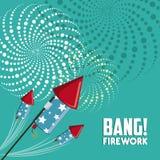 Firework icon design Stock Image