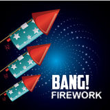 Firework icon design Royalty Free Stock Photo
