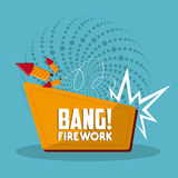 Firework icon design. Firework design  with rocket  icon design, vector illustration 10 eps graphic Stock Photo