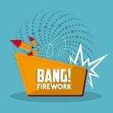 Firework icon design Stock Photo