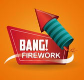 Firework icon design Stock Image