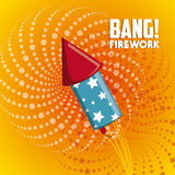 Firework icon design. Firework design  with rocket  icon design, vector illustration 10 eps graphic Royalty Free Stock Photography