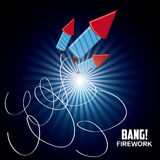 Firework icon design. Firework design  with rocket  icon design, vector illustration 10 eps graphic Stock Images