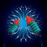 Firework icon design Stock Photography