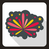 Firework icon in flat style Royalty Free Stock Image
