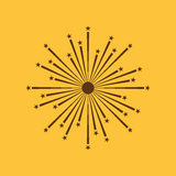 Firework icon. Holiday symbol. Flat. Vector illustration Stock Photography