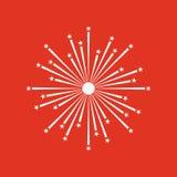 Firework icon. Holiday symbol. Flat. Vector illustration Stock Image