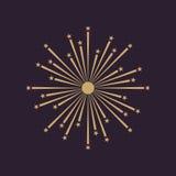 Firework icon. Holiday symbol. Flat. Vector illustration Stock Images