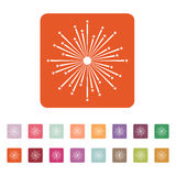 Firework icon. Holiday symbol. Flat. Vector illustration. Button Set Stock Images