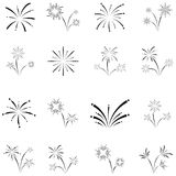 Firework icon set. The firework of icon set Royalty Free Stock Image