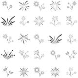 Firework icon set. The firework of icon set Stock Photo