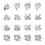 Firework icon set, vector eps10 Stock Photo