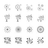 Firework icon set 6, vector eps10 Stock Images