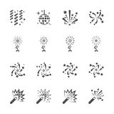 Firework icon set 5, vector eps10 Royalty Free Stock Photography