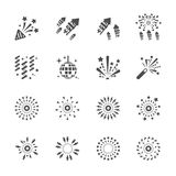 Firework icon set 9, vector eps10 Royalty Free Stock Image