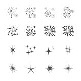 Firework icon set 9, vector eps10.  Stock Images