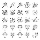 Firework icon set 12, vector eps10.  Royalty Free Stock Photography