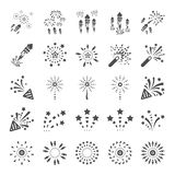 Firework icon set 13, vector eps10.  Stock Photography