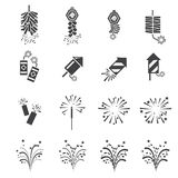 Firework  icon set Stock Photos