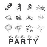 Firework icon set. Web icon illustration design vector Royalty Free Stock Image