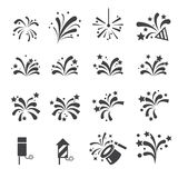 Firework icon set. Web icon illustration design vector sign symbol Royalty Free Stock Photo