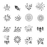 Firework icon. Web icon illustration design vector sign symbol Stock Photos